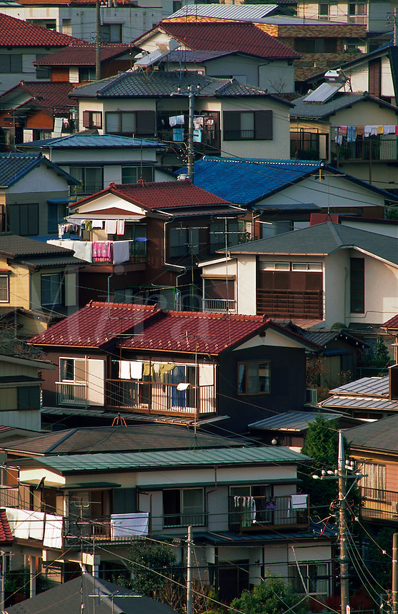 Houses in Tozuka district, Yokohama, Japan