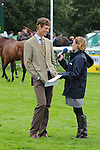 William Fox Pitt being interviewed for Burghley TV during the 1st Veterinary Inspection at the 2012 Land Rover Burghley Horse Trials in Stamford, Lincolnshire, England, UK.