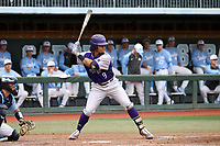 CHAPEL HILL, NC - FEBRUARY 19: Travis Holt #8 of High Point University waits for a pitch during a game between High Point and North Carolina at Boshamer Stadium on February 19, 2020 in Chapel Hill, North Carolina.