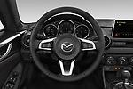 Car pictures of steering wheel view of a 2019 Mazda MX-5 RF Club 2 Door Convertible