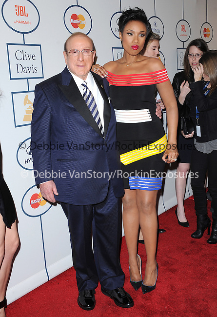 Jennifer Hudson and Clive Davis at The Pre-GRAMMY Gala & Salute to Industry Icons with Clive Davis Honoring Lucian Grainge held at The Beverly Hilton Hotel in Beverly Hills, California on January 25,2014                                                                               © 2014 Hollywood Press Agency