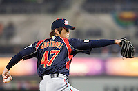 18 March 2009: #47 Toshiya Sugiuchi of Japan pitches against Cuba during the 2009 World Baseball Classic Pool 1 game 5 at Petco Park in San Diego, California, USA. Japan wins 5-0 over Cuba.