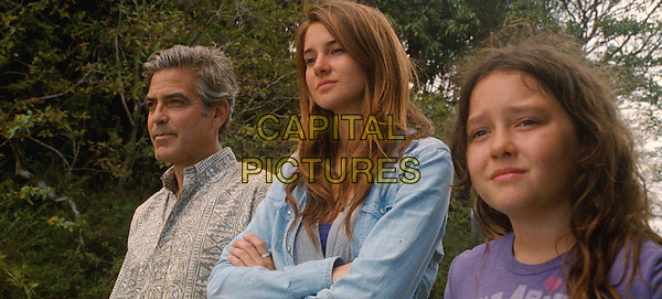 George Clooney, Shailene Woodley & Amara Miller .in The Descendants.*Filmstill - Editorial Use Only*.CAP/NFS.Supplied by Capital Pictures.