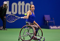 December 18, 2014, Rotterdam, Topsport Centrum, Lotto NK Tennis, Wheelchair quarter finals,  Jiske Griffioen<br /> Photo: Tennisimages/Henk Koster