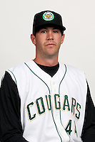 Jon Keck (44) of the Kane County Cougars at Elfstrom Stadium in Geneva, Illinois;  April 5, 2011. Photo By Chris Proctor/Four Seam Images.