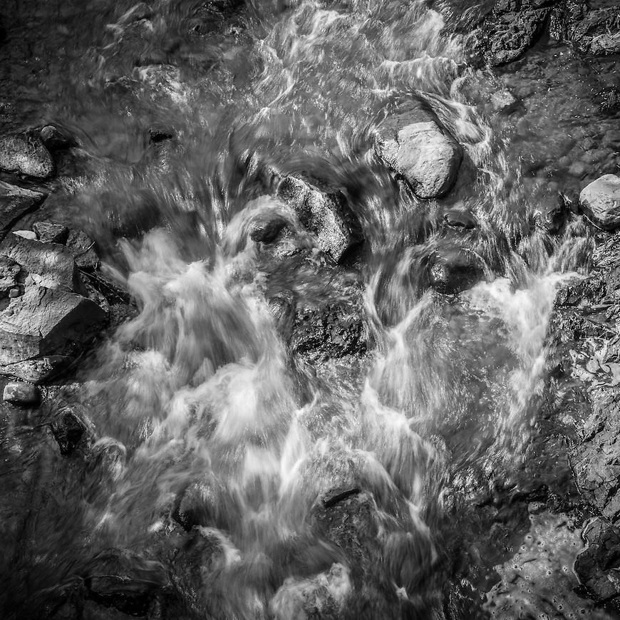 Swirling waters in Copper Falls State Park near Mellen, Wisconsin