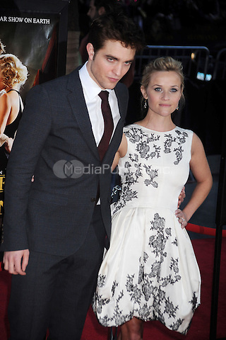 Robert Pattinson and Reese Witherspoon attend the 'Water For Elephants' premiere at the Ziegfeld Theatre in New York City. April 17, 2011. © mpi01 / MediaPunch Inc.