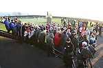 The winter solstice at newgrange in Co Meath, where the sun shines through a roof box to light up the burial chamber. Part of the Large crowd that gathered to watch the sun rise on the shortest day of the year..Photo: Newsfile/Fran Caffrey.