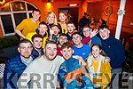 James Pike, Lixnaw, front centre Lt and David Ryan, Kilflynn, front centre Rt, both celebrated their 21st birthdays together along with many friends in the Greyhound bar, Tralee last Saturday night.