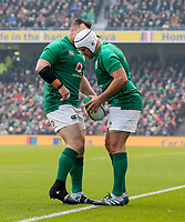Sunday10th March 2019 | Ireland vs France<br /> <br /> Rory Best and Cian Healy during the Guinness 6 Nations clash between Ireland and France at the Aviva Stadium, Lansdowne Road, Dublin, Ireland. Photo by John Dickson / DICKSONDIGITAL