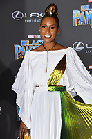 "Issa Rae at the world premiere for ""Black Panther"" at the Dolby Theatre, Hollywood, USA 29 Jan. 2018<br /> Picture: Paul Smith/Featureflash/SilverHub 0208 004 5359 sales@silverhubmedia.com"