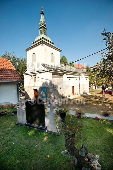 Exterior of St. Ilija Serbian Orthodox Church, the oldest church in continuous service in Belgrade, Serbia and founded in 1834.