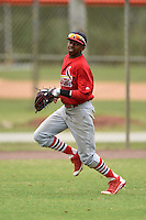 St. Louis Cardinals outfielder Anthony Ray (4) during a minor league spring training game against the New York Mets on March 27, 2014 at the Port St. Lucie Training Complex in St. Lucie, Florida.  (Mike Janes/Four Seam Images)