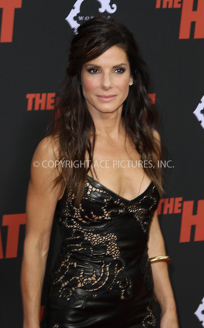 WWW.ACEPIXS.COM<br /> <br /> June 23 2013, New York City<br /> <br /> Sandra Bullock at 'The Heat' New York Premiere at the Ziegfeld Theatre on June 23, 2013 in New York City.<br /> <br /> <br /> <br /> By Line: Zelig Shaul/ACE Pictures<br /> <br /> <br /> ACE Pictures, Inc.<br /> tel: 646 769 0430<br /> Email: info@acepixs.com<br /> www.acepixs.com