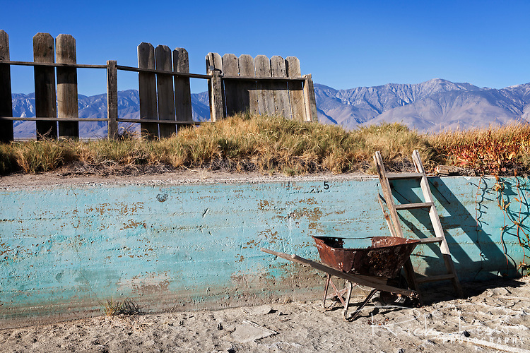 Deep end of the public swimming pool in Keeler, California.