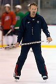 Mark Osiecki (US - Assistant Coach) - Team USA practiced on Thursday, August 13, 2009, in the USA (NHL-sized) Rink in Lake Placid, New York, during the 2009 USA Hockey National Junior Evaluation Camp.