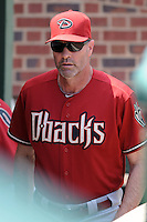 Arizona Diamondbacks manager Kirk Gibson #23  before a game against the Chicago Cubs at Wrigley Field on July 15, 2012 in Chicago, Illinois. The Cubs defeated the Diamondbacks 3-1. (Tony Farlow/Four Seam Images).