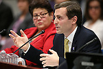 Nevada Attorney General Adam Laxalt testifies in a committee hearing at the Legislative Building in Carson City, Nev., on Wednesday, March 4, 2015. <br /> Photo by Cathleen Allison