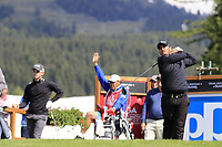 Mathias Gronberg (SWE) tees off the 14th tee during Thursday's Round 1 of the 2017 Omega European Masters held at Golf Club Crans-Sur-Sierre, Crans Montana, Switzerland. 7th September 2017.<br /> Picture: Eoin Clarke | Golffile<br /> <br /> <br /> All photos usage must carry mandatory copyright credit (&copy; Golffile | Eoin Clarke)
