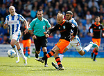 Barry Bannan of Sheffield Wednesday takes a shot on goal during the English Championship play-off 1st leg match at the John Smiths Stadium, Huddersfield. Picture date: May 13th 2017. Pic credit should read: Simon Bellis/Sportimage