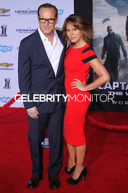 "HOLLYWOOD, LOS ANGELES, CA, USA - MARCH 13: Clark Gregg, Jennifer Grey at the World Premiere Of Marvel's ""Captain America: The Winter Soldier"" held at the El Capitan Theatre on March 13, 2014 in Hollywood, Los Angeles, California, United States. (Photo by Xavier Collin/Celebrity Monitor)"