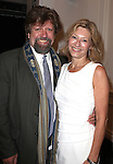 Oskar Eustis and wife Laurie Eustis attending the Unveiling of the Revitalized Public Theater at Astor Place in New York City on 10/4/2012.