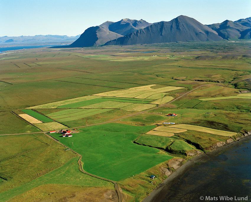 Eystra-Súlunes séð til norðurs, Hvalfjarðarsveit áður Leirar og Melahreppur / Eystra-Sulunes viewing north, Hvalfjardarsveit fgrmer Leirar and Melahreppur.