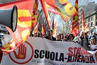Roma, 17 Marzo 2017<br /> Sciopero generale della scuola promosso dai sindacati Cobas e USB per protestare contro la riforma della scuola promossa dal governo Renzi (la legge 107 del 2015, la cosiddetta &ldquo;Buona scuola&rdquo;), con presidio al Ministero dell'struzione e corteo