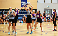13.12.2017 Te Paea Selby Rickit in action during traning at the Silver Ferns trails in Auckland. Mandatory Photo Credit ©Michael Bradley.
