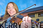 Scartaglen fiddle player Emma O'Leary enjoying the Gathering Festival in The Gleneagle on Saturday........