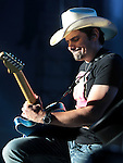 Brad Paisley performs at Harveys Tahoe Outdoor Arena on Saturday, July 28, 2012..Photo by Cathleen Allison