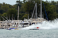 "Martin Rochon, GP-77 ""Coppertone Sport"" and Ken Brodie II, GP-50 ""Intensity""  (Grand Prix Hydroplane(s)"