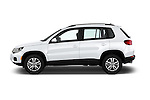 Car Driver side profile view of a 2017 Volkswagen Tiguan S-4Motion 5 Door SUV Side View