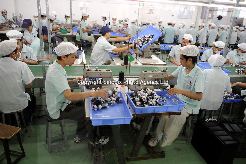 A factory manufactures McDonald's Toys in Dongguan, Guangdong, China..