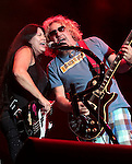 Sammy Hagar and Mona Gnader perform at Harveys Lake Tahoe in Stateline, Nev., on Saturday, Sept. 1, 2012. .Photo by Cathleen Allison