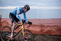 Toon Aerts (BEL) chasing <br /> <br /> Men's Elite race <br /> <br /> UCI 2019 Cyclocross World Championships<br /> Bogense / Denmark<br /> <br /> <br /> ©kramon