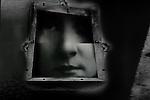 A womans head in a frame