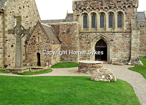 St Columba's Chapel, Iona. Argyll and Bute Strathclyde Scotland. Celtic Britain published by Orion