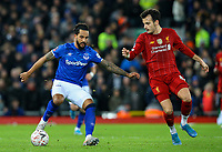 Everton's Theo Walcott shields the ball from Liverpool's Pedro Chirivella<br /> <br /> Photographer Alex Dodd/CameraSport<br /> <br /> Emirates FA Cup Third Round - Liverpool v Everton - Sunday 5th January 2020 - Anfield - Liverpool<br />  <br /> World Copyright © 2020 CameraSport. All rights reserved. 43 Linden Ave. Countesthorpe. Leicester. England. LE8 5PG - Tel: +44 (0) 116 277 4147 - admin@camerasport.com - www.camerasport.com