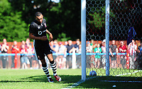 Lincoln City's Nathan Arnold celebrates scoring his sides fourth goal <br /> <br /> Photographer Chris Vaughan/CameraSport<br /> <br /> Football - Pre-Season Friendly - Lincoln United v Lincoln City - Saturday 8th July 2017 - Sun Hat Villas Stadium - Lincoln<br /> <br /> World Copyright &copy; 2017 CameraSport. All rights reserved. 43 Linden Ave. Countesthorpe. Leicester. England. LE8 5PG - Tel: +44 (0) 116 277 4147 - admin@camerasport.com - www.camerasport.com