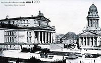 East Berlin: The Platz der Akadamie, 1900 (Ex-Gendarmenmarkt). Formerly Schillerplatz . Reference only.