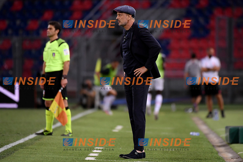 Sinisa Mihajlovic coach of Bologna FC looks on during the Serie A football match between Bologna FC and Juventus at Dall'Ara stadium in Bologna ( Italy ), June 22th, 2020. Play resumes behind closed doors following the outbreak of the coronavirus disease. <br /> Photo Federico Tardito / Insidefoto