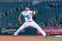 Omaha Storm Chasers starting pitcher Glenn Sparkman (28) during a Pacific Coast League game against the Memphis Redbirds on April 26, 2019 at Werner Park in Omaha, Nebraska. Memphis defeated Omaha 7-3. (Zachary Lucy/Four Seam Images)