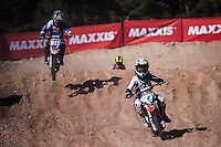 Riders at Spanish Motocross Championship at Albaida circuit (Spain), 22-23 February 2014