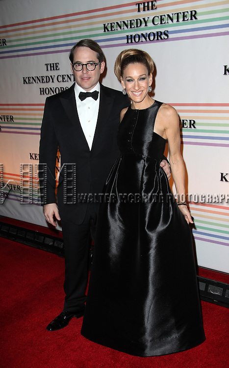Matthew Broderick & Sarah Jessica Parker.arriving for the 34th Kennedy Center Honors Presentation at Kennedy Center in Washington, D.C. on December 4, 2011