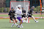 Orange, CA 05/16/15 - Sackett Keesen (Grand Canyon #8) in action during the 2015 MCLA Division I Championship game between Colorado and Grand Canyon, at Chapman University in Orange, California.
