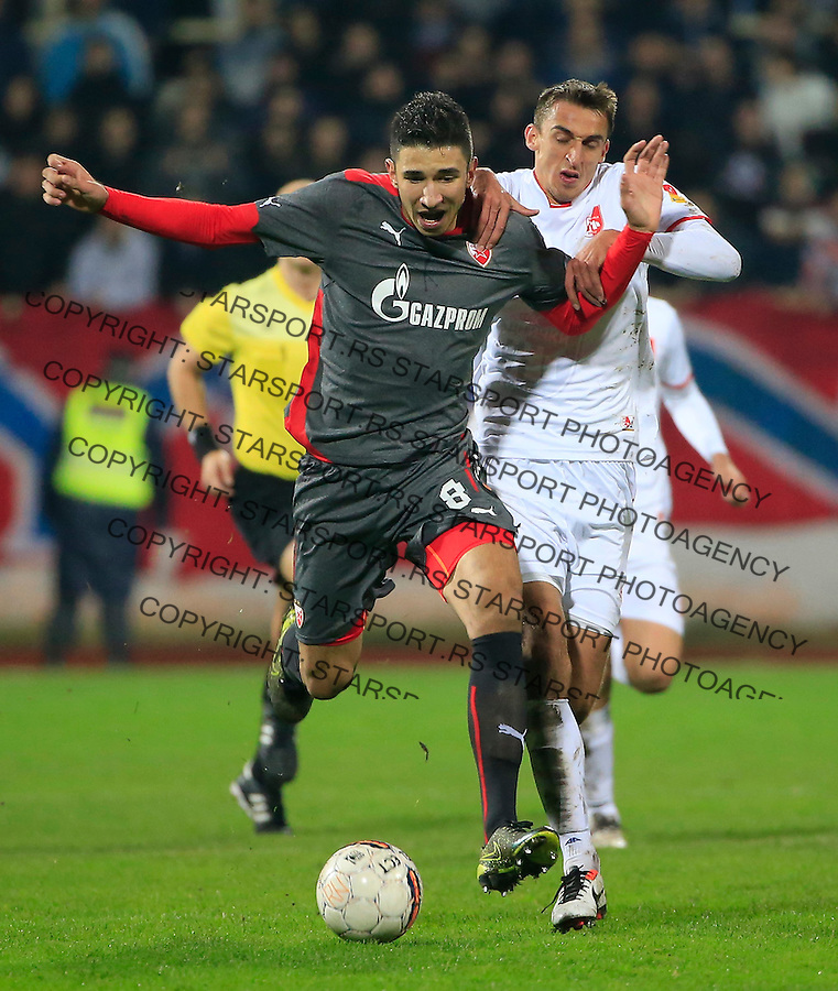 Fudbal Jelen Super League season 2015-2016<br /> Radnicki Nis v Crvena Zvezda<br /> Marko Grujic and Marko Tomic (R)<br /> Nis, 22.11.2015.<br /> foto: Srdjan Stevanovic/Starsportphoto&copy;