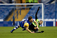 Sheffield Wednesday v Huddersfield Town, 14.1.2017<br /> <br /> EFL Sky Bet Championship<br /> Picture Shaun Flannery/Trevor Smith Photography<br /> <br /> Wednesday's Sam Hutchinson brought down by Huddersfield's Elias Kachunga
