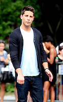 August 11, 2012 Dean Geyer,  shooting on location for  Glee at Washington Square in New York City.Credit:© RW/MediaPunch Inc. /NortePHOTO.com