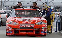 May 4, 2007; Richmond, VA, USA; Nascar Nextel Cup Series driver Tony Stewart (20) fills up with Sunoco unleaded race fuel during practice for the Jim Stewart 400 at Richmond International Raceway. Mandatory Credit: Mark J. Rebilas